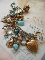 Aqua rhinestone bracelet by janedean