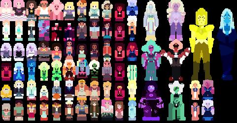 Steven Universe Pixel Babs by qeckopaws