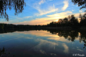 Beautiful evening mood on the new lake 1 by MT-Photografien