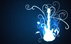 glowing guitar by El-Sach