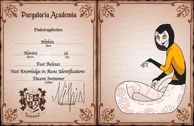 Pa Application: Nithin by MythicsGo