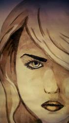 Bad Wolf, eye detail by YumeNoCora