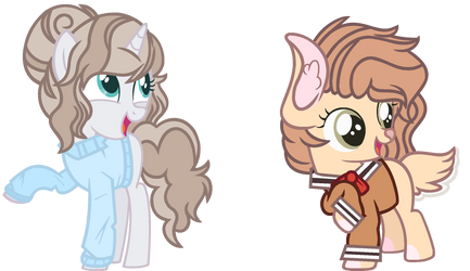 Redesign- Two ponies by Bezziie