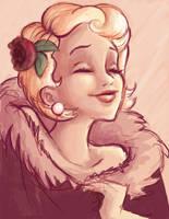 Blonde lady by Headmaze