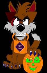 Little Halloween Werewolf by cartoonfan707