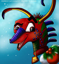 Noel, the Christmas Dragon by cartoonfan707