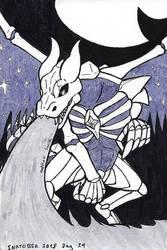 Inktober 2018-29 Celestial Dragon by ShadowEclipex