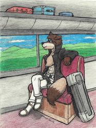 Midori on a Train by ShadowEclipex