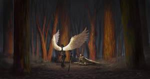 Angel of battle by LolosArt