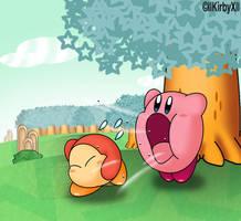 Kirby Inhaling by Jdoesstuff