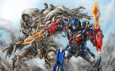 DOTM - Optimus VS Megatron by Diovega