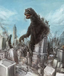 Godzilla 1968 by Diovega
