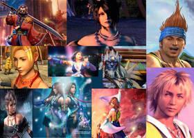 Collage Of Final Fantasy X+X2 by Fireflyhikari