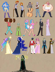 Humanized Ponies Part 2 by SapphireKat