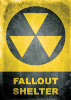 Fallout shelter sign by Mergorti