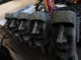 Moais, Easter Island or not ? by Mergorti