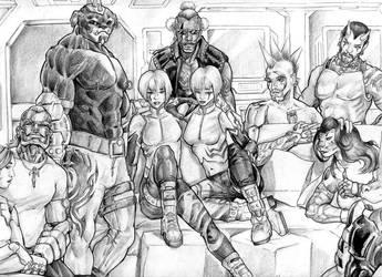 Groupshot by biomechlizardchick