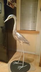 Heron sculpture 3 by braindeadmystuff