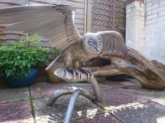 Barn Owl sculpture. 2016 by braindeadmystuff