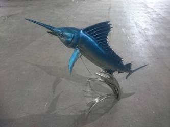 Marlin fish sculpture by braindeadmystuff