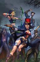 Robyn Hood and Leisel Van Helsing colors by cehnot