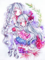 Watercolor sisters by Inntary
