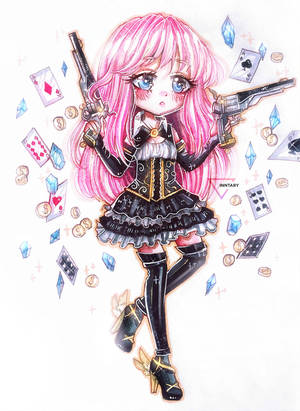 Chibi marker commission by Inntary