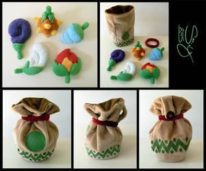 SOLD Mini Zelda: OoS Seed Satchel by SarityCreations