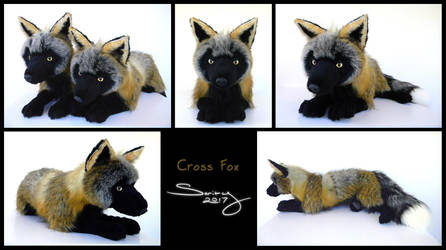 25 inch Cross Fox by SarityCreations