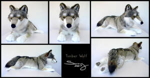 25 inch Timber Wolf by SarityCreations