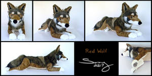 25 inch Canis Rufus (Red Wolf) by SarityCreations
