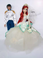 Disney Ariel and Eric Doll Repaints by the-art-of-claude