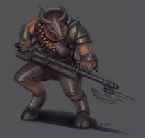 East Emmetts Minotaur Heavy Trooper by Lionel23