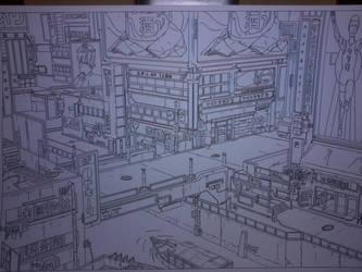 cyberpunk city by AbsurdBR