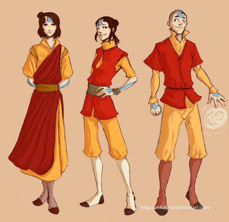 Airbending kids by ankalime