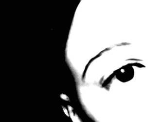 AN EYE... BLACK-WHITE by Cicia