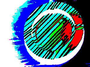 ashtray - stripes... negative by Cicia