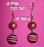 Chocolate earrings 1 by Cicia
