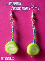 Mint candy earrings I by Cicia