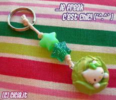 Hello Kitty Veg keychain by Cicia