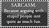 SARCASM. by alyssinelysium