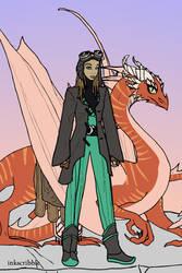 Dragon Rider by katerinaaqu