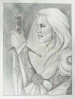InkTober J2 - Nuada Airgetlam by Edoriel