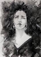 InkTober Jour 14 - Llorona by Edoriel