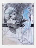 InkTober Jour 22- Florine et l'oiseau bleu by Edoriel