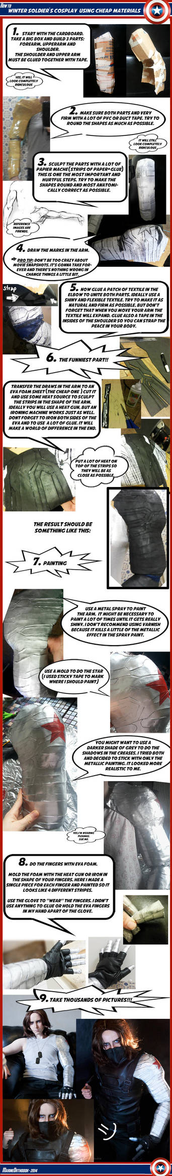 TUTORIAL - Winter Soldier's metal arm by marinecosplaybr