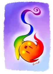 Pride Flag Gay Flame by I-Am-Bleu