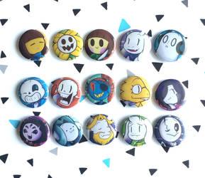 Undertale buttons by I-Am-Bleu