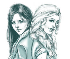 Tanith And Valkyrie by Running-Blue