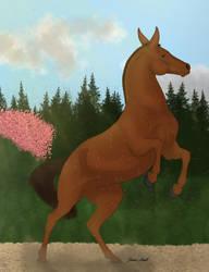 Fire (mule) for Mirabel Blossom Bigbaker by Drake-Vega